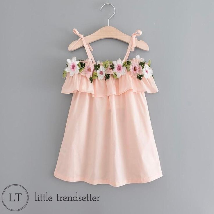 """333 Likes, 18 Comments - www.littletrendsetter.com (@littletrendsetter) on Instagram: """"Major Restock just occurred on this precious little dress! The stitched on crocheted flowers put it…"""""""