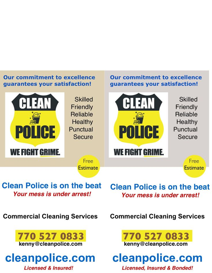 cleaning business flyer