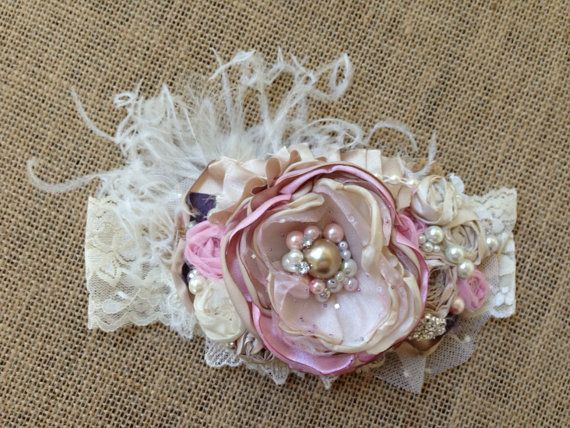 Pink Champagne  by LondyLouHeadbands on Etsy, $24.99