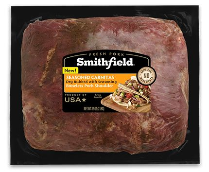 Smithfield Boneless Pork Shoulder Seasoned Carnitas