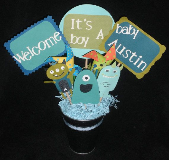 96 Best Images About Monster Baby Shower On Pinterest