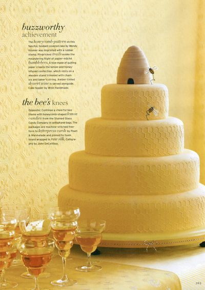 Beehive cake... :  for a fancy shower or wedding, this would be so fun with a Savannah Bee company theme!