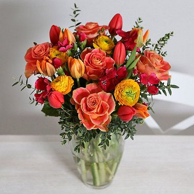 Springtime Sunset Bouquet With Free Express Delivery - From Lakeland