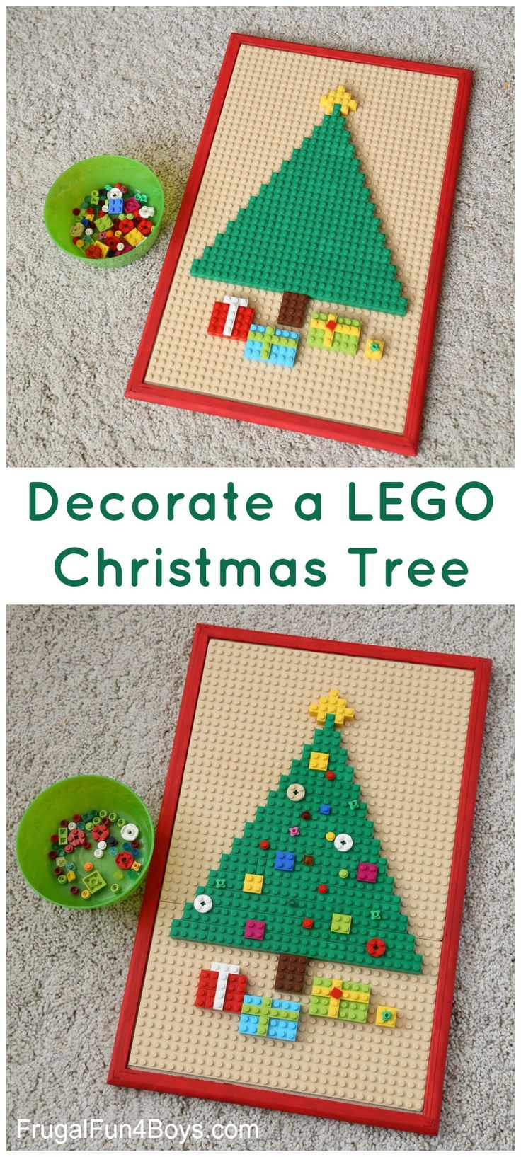 Build and decorate a LEGO Christmas tree - fun Christmas activity for kids!