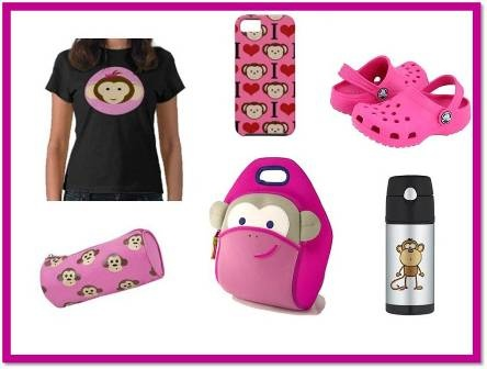 Blushing Monkey Style   Encuéntrala en www.qipi.co  #dabbawallabags #pinkmonkey #backtoschool
