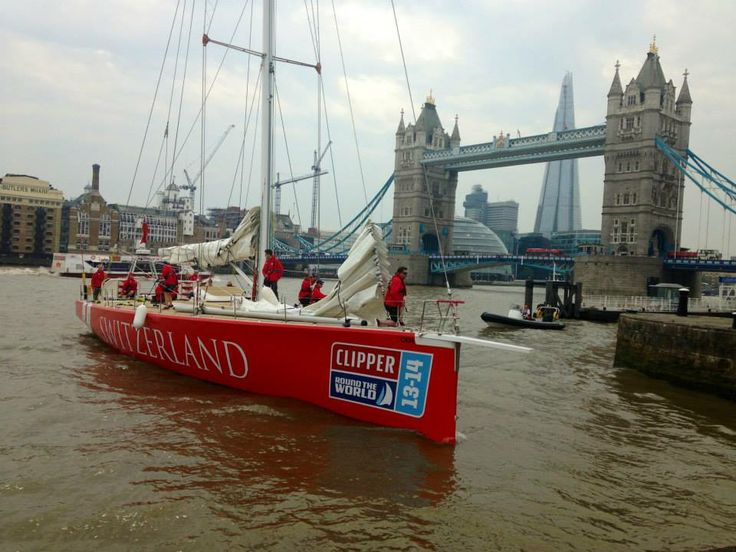 Clipper Race 13-14 fleet arriving at St Katharine Docks in August 2013.