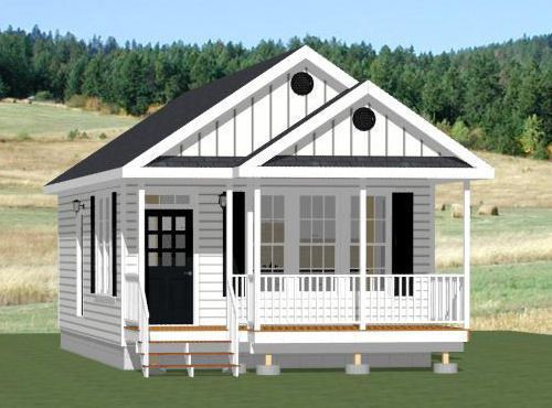 18x32 Tiny House 576 Sqft PDF Floor Plan Model 1B