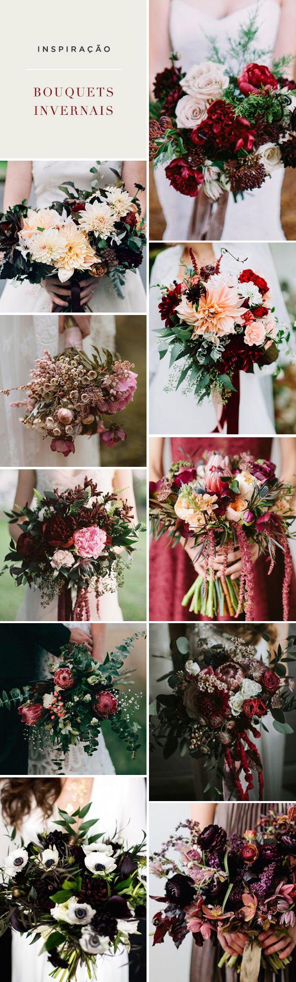 10 bouquets para casamentos no inverno