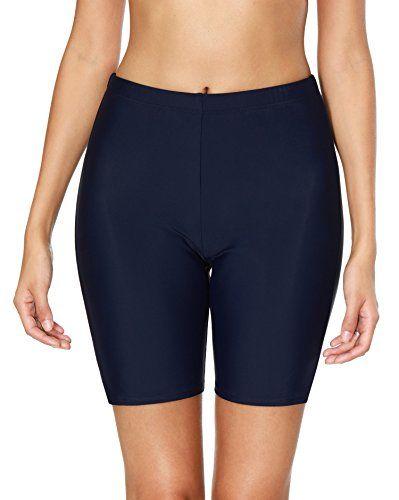 4d9e2e1905 Anwell Womens Swim Shorts Tummy Control Board Shorts high Waist Swim Bottoms