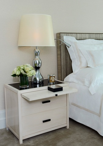 nightstand with a pull out tray