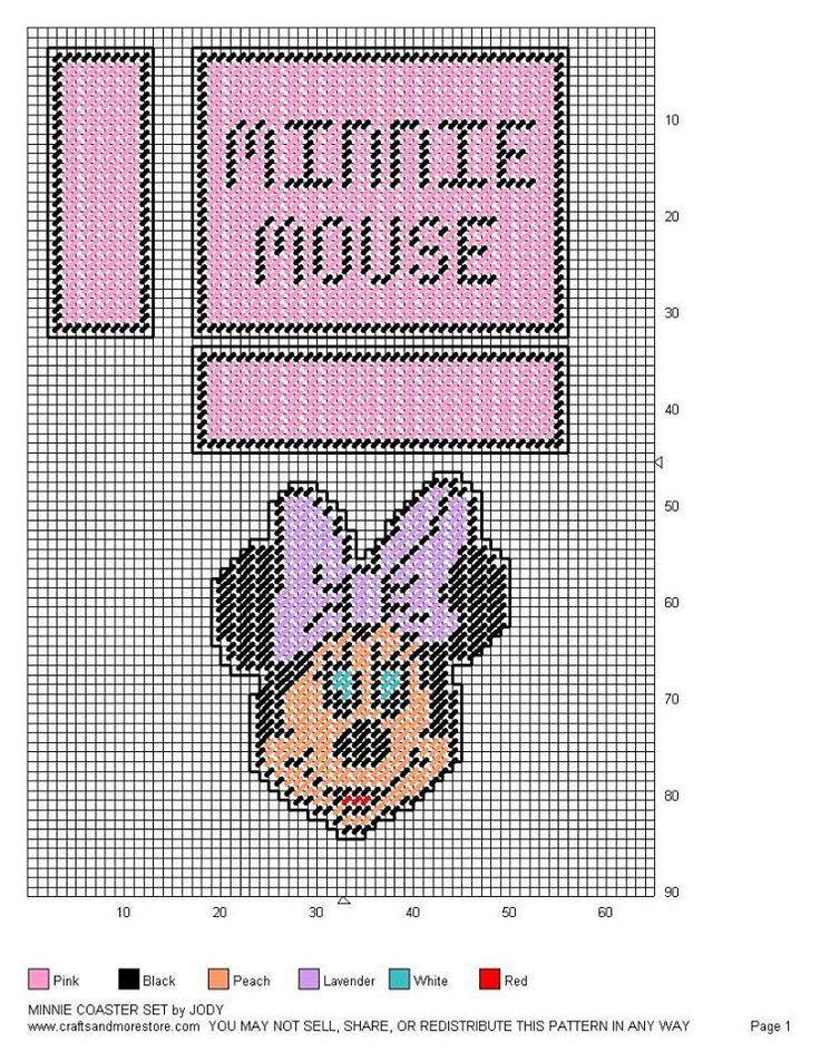 Minnie Coaster Set By Jody Plastic Canvas Patterns