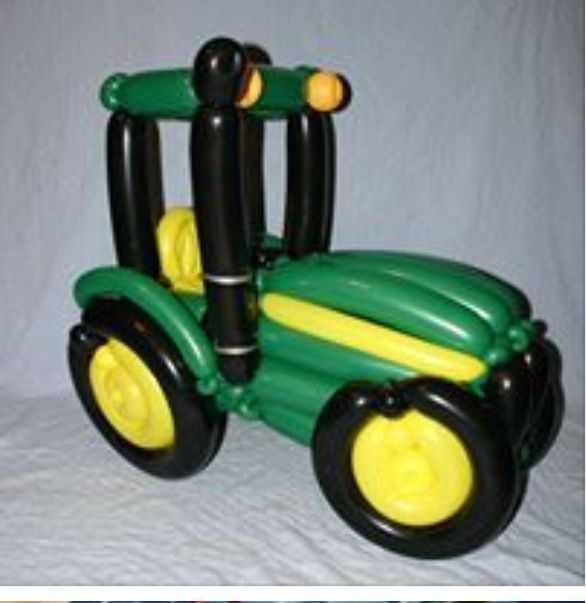 Balloon art tractor