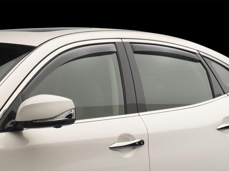 2015 Mazda MAZDA3 | Déflecteurs, échappes-vent, gardes-pluie, déflecteurs d'air pour fenêtres latérales WeatherTech | french.WeatherTech.ca