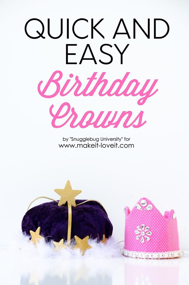 Make your little one feel extra special on their big day by whipping up these quick and easy birthday crowns made with embroidery hoops!