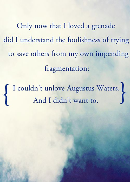 The Fault in our Stars. What an incredibly powerful and moving piece of literature.