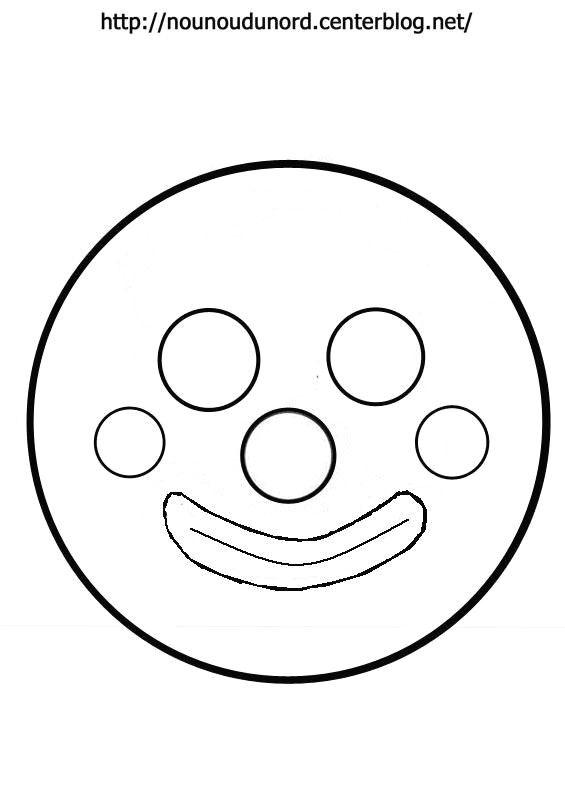 masque clown ajouter le chapeau et le nœud voir sur mon blog voir aussi d'autres modèles à imprimer cliquez sur mon lien http://nounoudunord.centerblog.net/4209-masques-a-imprimer-classes-par-ordre-alphabetique