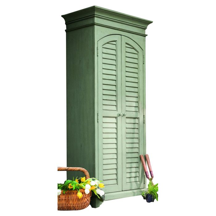 Megaera Utility Storage Cabinet In Spanish Moss By Paula Deen Home Wayfair Apartment For