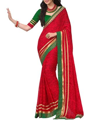 red chiffon saree - Online Shopping for Sarees