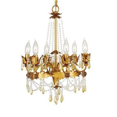 Livex Lighting 8186 6 Light Regal Mini Chandelier- 2 chandeliers for great room