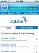 The Stitcher app. Lets you listen to your favorite podcasts without downloading or syncing http://catchup.podomatic.com/