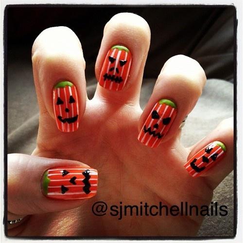 17 Best Images About Pumpkin Nails On Pinterest