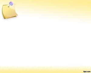 Post it Plantilla Powerpoint con fondo amarillo para descargar gratis
