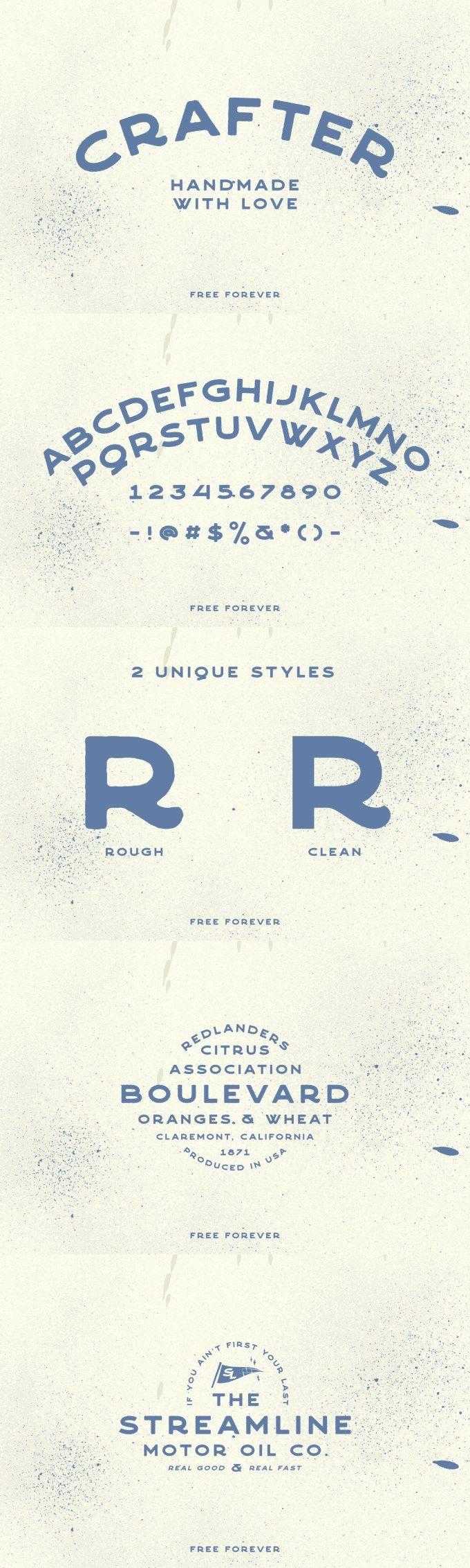 Crafter – Free Vintage Font – Pixel Surplus
