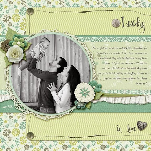 Layout by CT Léa with My Lucky Stars - Click on image to see the kits and bundle.