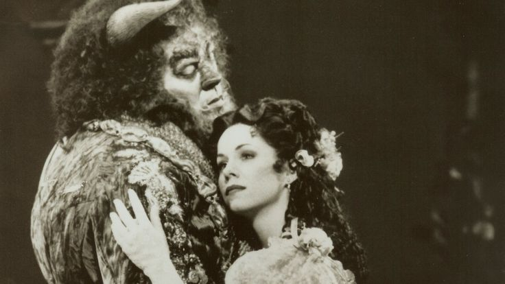 Terrence Mann and Susan Egan in the original Broadway cast of Beauty and the Beast