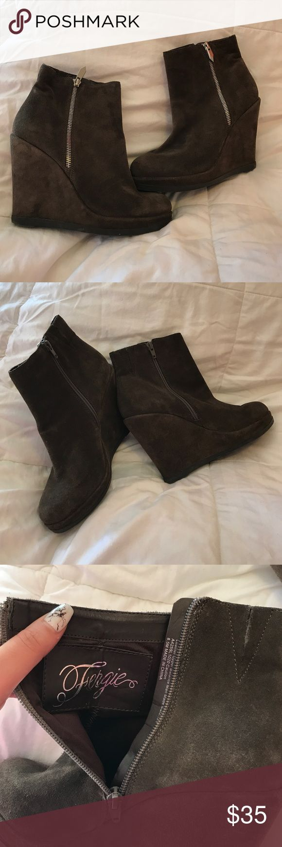 Fergie booties Worn once! Fergie Shoes Ankle Boots & Booties