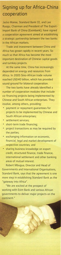 #StandardBank and The Export-Import Bank of China (Eximbank) signed a co-operation agreement in 2006. #Africa #MovingForward