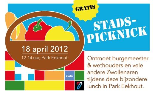 Banner Stadspicknick Zwolle