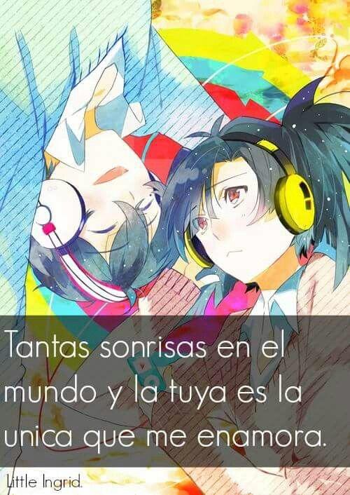 Frase, amor, anime.