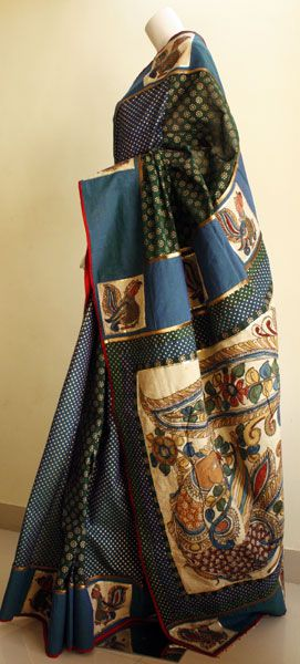 Kalamkari saree. Mora Collection