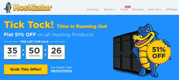 HostGator India - Tick Tock Sale - 51% Off on all Hosting Plans@ http://goo.gl/OkffH5  Host Your Website for Just Rs.109/mo. Offer Ends 21st June. Get it Now! Hostgator coupons@ www.updatedreviews.in/hosting-coupon/hostgator-india  Types: Windows Hosting, Linux Hosting, Website Hosting, Domain Hosting, Reseller Hosting, Dedicated Server