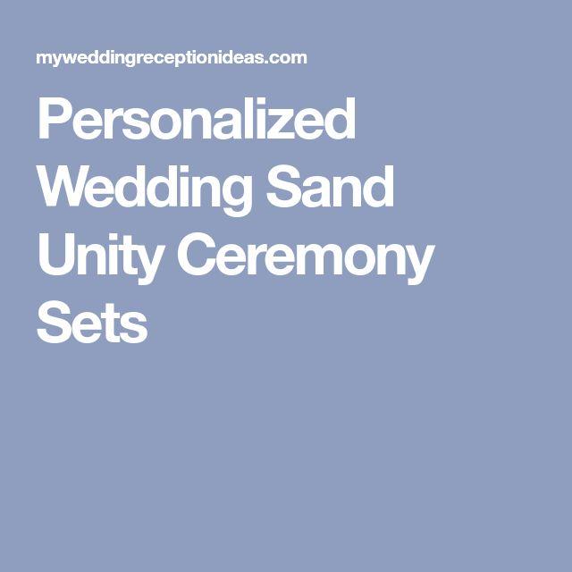 Personalized Wedding Sand Unity Ceremony Sets