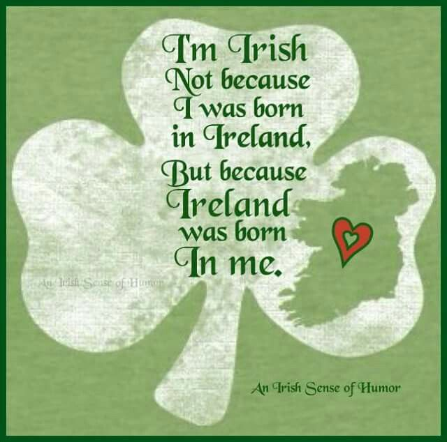 "Exactly ! Everyone is always telling  me "" you aren't 100% irish bc you weren't born there"""