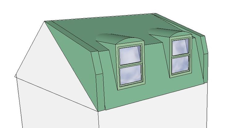 Mansard Dormer - i like the rounded tops to the windows and it doesn't have a flat roof. Nicer shape than a box.