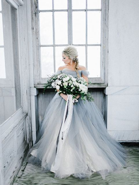 42 best Blue Wedding Dresses images on Pinterest | Wedding frocks ...