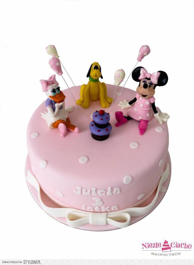 Bajki Disneya, Myszka Mini, Daisy, Pluto, tort urodzinowy, urodziny dziecka, torty dla dzieci, torty bajkowe, Tarnów