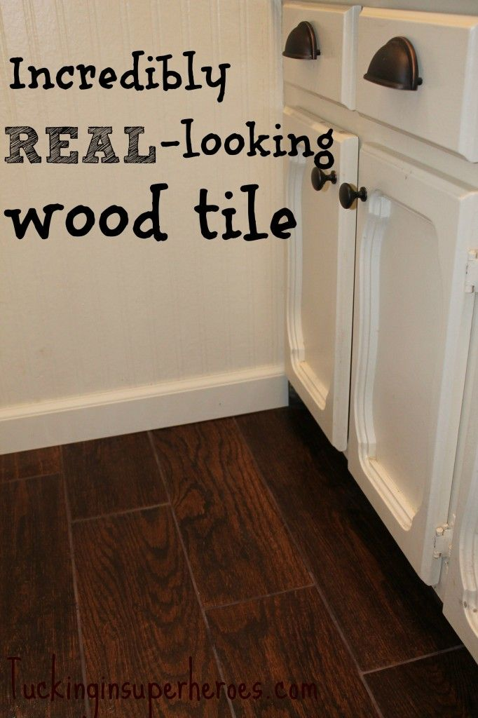 wood tile  that looks like REAL wood! tuckinginsuperheroes.com