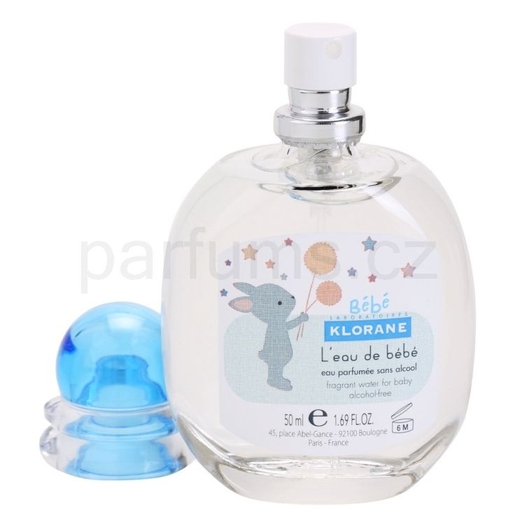 Klorane Bébé Bébé, toaletní voda pro děti 50 ml   parfums.cz