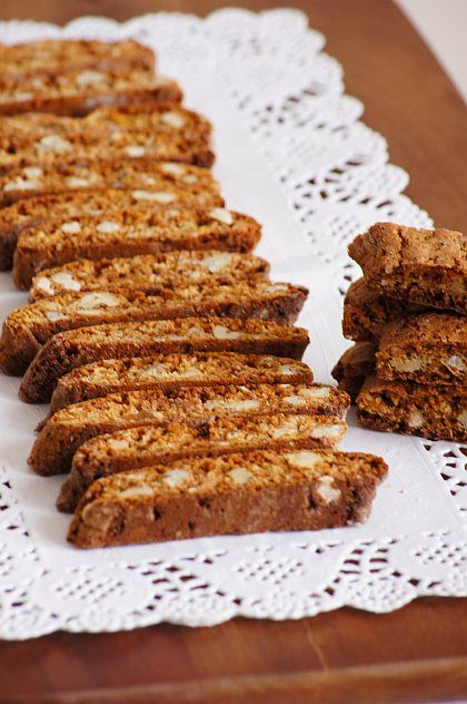 Piernikowe biscotti z orzechami #thermomix