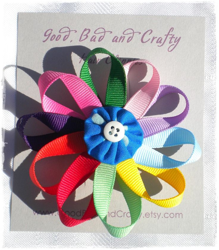 Daisy Girl Scout Barette-  the girls would love to make their own hair bows