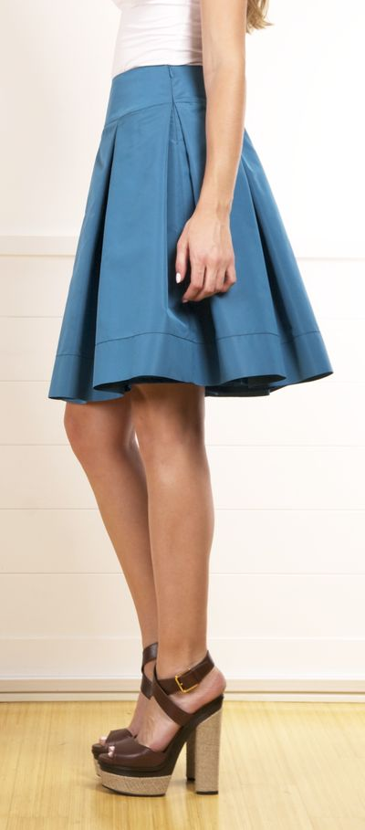 Prada... Love this cerulean blue skirt.
