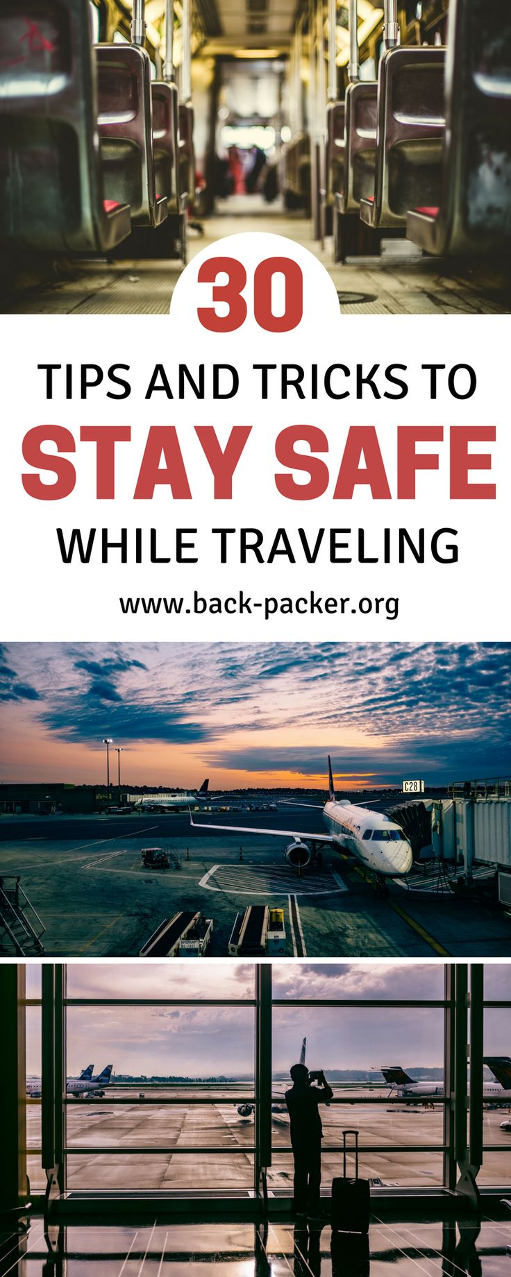 30 tips to help you stay safe while traveling the world. While travel shouldn't scare you, crime does happen all over the world, and simple precautions aimed at protecting yourself and your valuables can go a long way when traveling in a foreign country. Safety tips. | Back-Packer.org