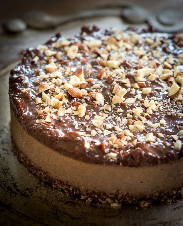 Raw Vegan Chocolate Espresso Hazelnut Torte | Rawmazing. http://papasteves.com