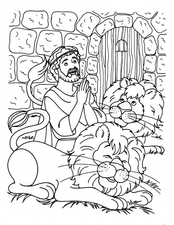 Daniel And The Lions Den Coloring Sheet Daniel And The Lions
