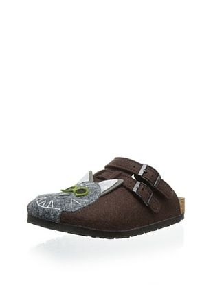 70% OFF Birki's Kid's Felt Cat Clog (Brown)
