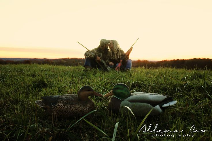 Sunset- Camo- Duck- Decoy- Hunting- Love- Central Kentucky Photographer Specializing in Wedding & Engagements as well as Seniors & Family Photography. http://allenacoxphotography.com